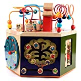 ZYN Brain Game Music Multiple Gameplay Treasure Box Wooden Large Round Beads Hexahedron Boy Girl