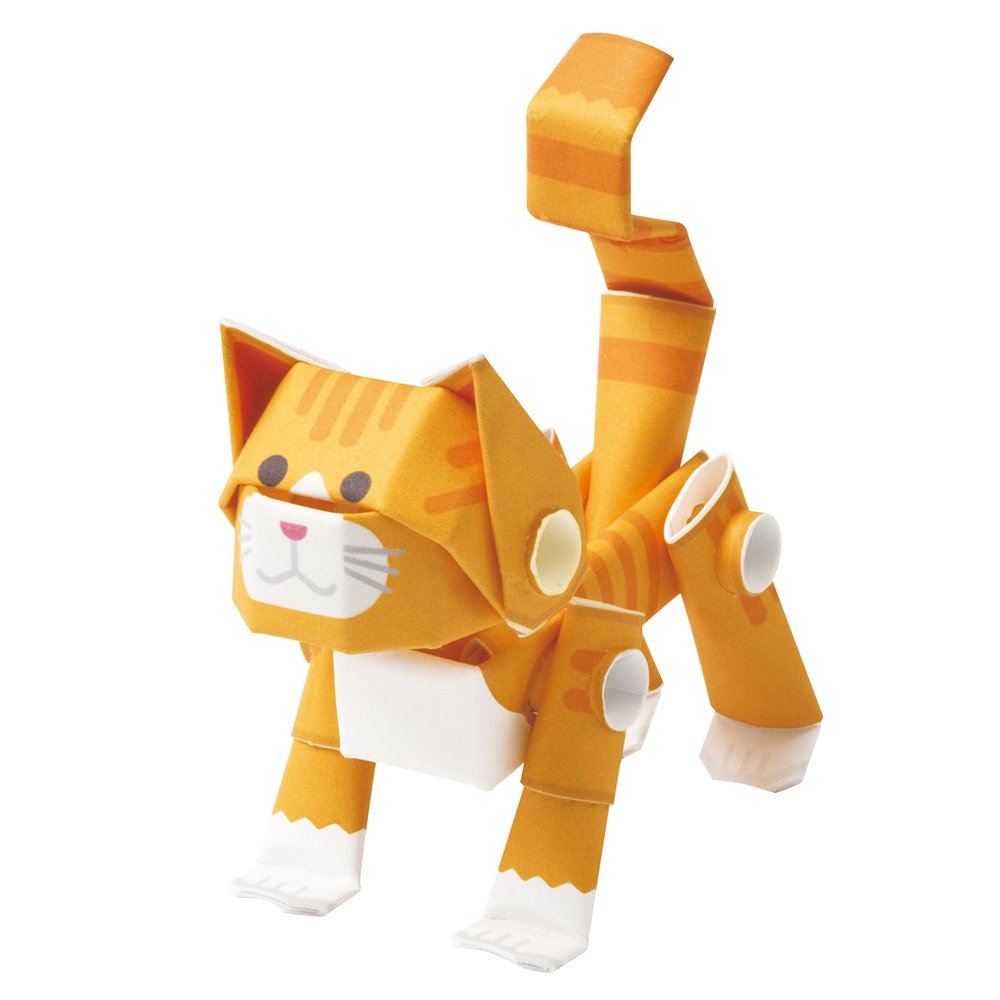 PIPEROID Animals Cats Orange Tabby Paper Craft kit from Japan