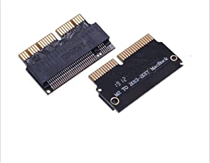 M.2 Nvme Ssd Adapter Card for Upgrade MacBook Air(2013-2017 Year) A1465 A1466 and Mac Pro(Late 2013-2016 Year) A1398 A1502.