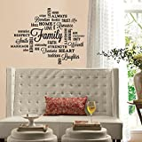RoomMates RMK2741SCS Family Quote Peel and Stick Wall Decals