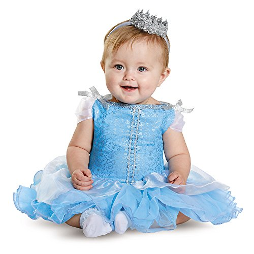 [Disguise Baby Girls' Cinderella Prestige Infant Costume, Blue, 6-12 Months] (Princess Costumes For Babies)