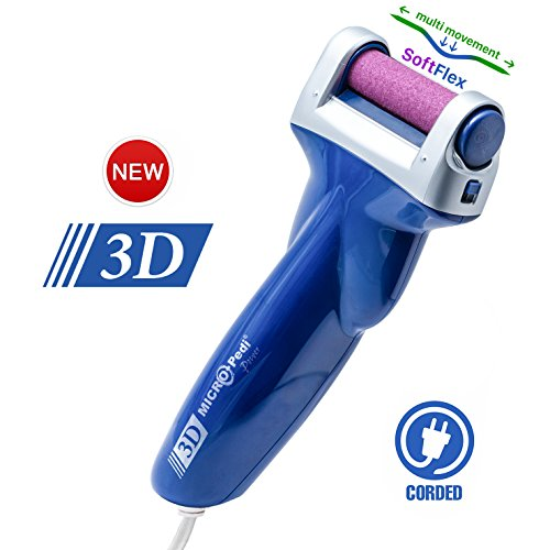 Emjoi Micro-Pedi 3D POWER Callus Remover (Twice as effective, with unique 3D Motion) (Emjoi Micro Pedi Nano Callus Remover Corded)
