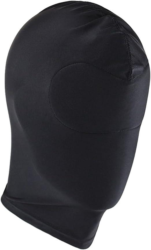 US /_Mens Womens Leather Lingerie Headgear Role Play Mask Hood Cap Fancy Costume