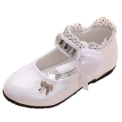 OPSUN Ballerines à Bride Enfants Filles 2017 Nouvelle Mode Chaussure  Cérémonie Fête Demoiselle d honneur Mariage Escarpin Plat Babies   Amazon.fr  Chaussures ... c78608ca32d8