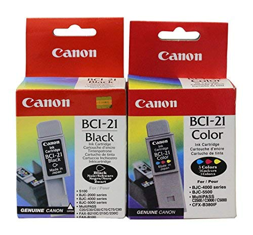 Canon BCI-21 Genuine Canon Brand **Combo Pack** 1 Color & 1 ()