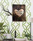 Personalized Wedding Gift | Love message carved in a tree | Bride and Groom, Anniversary Gift | Carved on real wood | Customized engraving with the Names, Date or Message of your choice