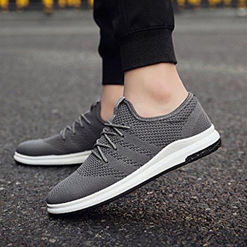 tela tendenza Size selvatici uomo Nuove da scarpe uomo Gray Color da sport Corea 39 traspiranti di piatto casual scarpe YaNanHome stile scarpe Black scarpe scarpe vAqtv4w