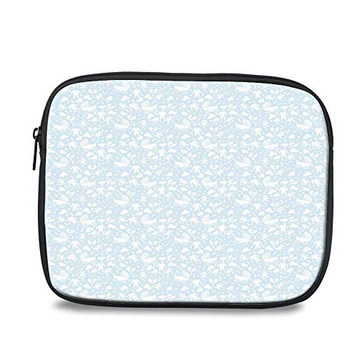 - Baby Durable iPad Bag,Hearts Background with Teddy Bears Strollers Infant Clothes Newborn Child Theme Decorative for iPad,10.6