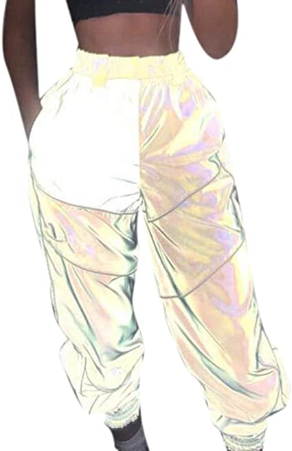 Hibasing Camisas Plateadas Reflectantes para Mujer/Camisa con Purpurina, Ropa Casual Brillante: Amazon.es: Ropa y accesorios