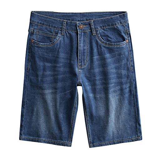 Men's Summer Jeans Shorts, Mmnote Relaxed Fit Multi Simple Rugged Comfort Stretch Jeans Shorts(Waist:29.92''-47.24'') Blue