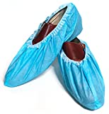 Blue Shoe Guys 100 Premium Shoe Covers   Disposable Boot Guards, Durable, Non Slip, Reusable for Indoor, Travel, Rain, Medical, Men/Women/Adults,   (Waterproof Version) Large Fits Most, XL