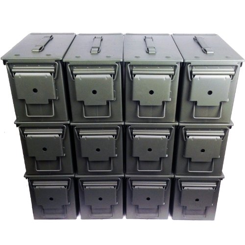 12-Pack Mil Spec 50 Cal M2A1 Empty Ammo Cans NEW by Ammo Can Man