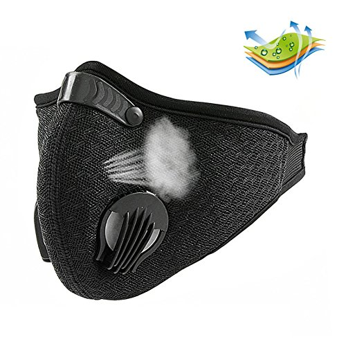 Breathable Dustproof Mask, RONGT Filtration Exhaust Gas PM2.5 Half Face Mask, Anti Pollen Allergy Filter Mesh Cloth Mask for Outdoor Activities Cycling Motorcycle Woodworking Mowing Lawn Running by RONGT