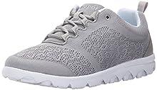 Propet Women's TravelActiv Sneaker, Silver, 9.5 2X-Wide