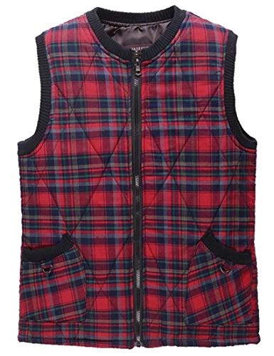 Lightweight Women's Vest Casual 1 Plaid EKU Outdoor Puffer Down Vest Quilted xS1wnCqa