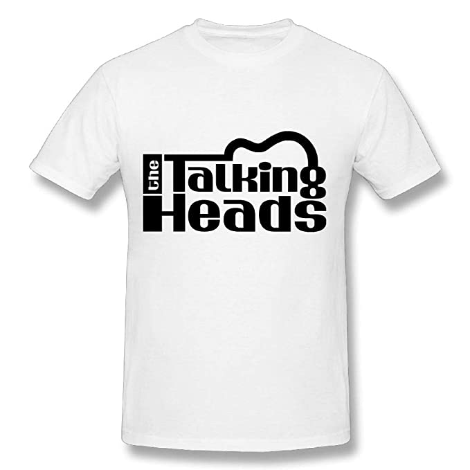 568fa8fa Talking Heads Cotton Youth Man's T Shirt Cool Tees Short Sleeves White S