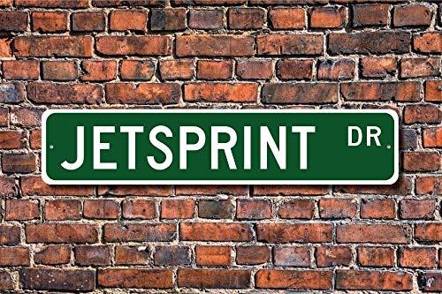 Sprint Racing Boat (Ditooms Jetsprint Sign Jetsprint Fan Participant Jetsprint Gift Sprint Boat Racing Wall Art Sign Decorative Plaque Post Street Sign 45 x 10cm)