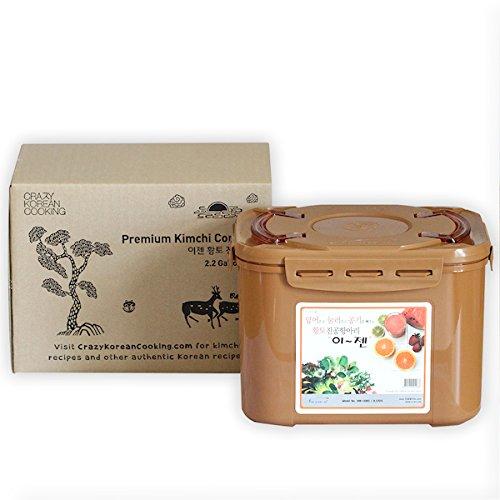 Premium Kimchi, Sauerkraut Fermentation Container with Inner Vacuum Lid - 2.2 Gallon (8.5L) (Kimchi Pot compare prices)