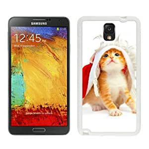 Provide Personalized Customized Christmas Cat White Samsung Galaxy Note 3 Case 48