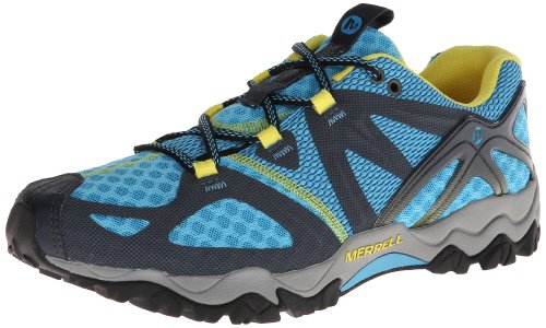 Merrell Women's Grassbow Air Trail Running Shoe - Blue/Na...