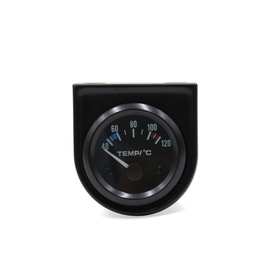 sourcing map Auto Universale 52mm dia 40-120C Custodia Nero Led temperatura acqua misuratore di puntatore