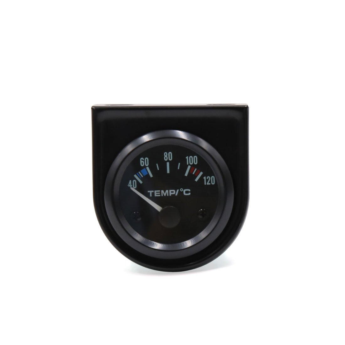 uxcell Universal Car 52mm Dia 40-120C Black Shell LED Water Temperature Pointer Meter