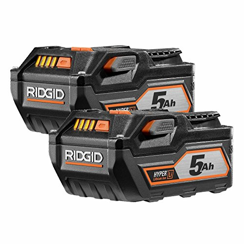 Ridgid AC840089 18-Volt 5.0Ah High Capacity HYPER Lithium-Ion Battery (2-Pack) (Ridgid Battery Pack 18v)