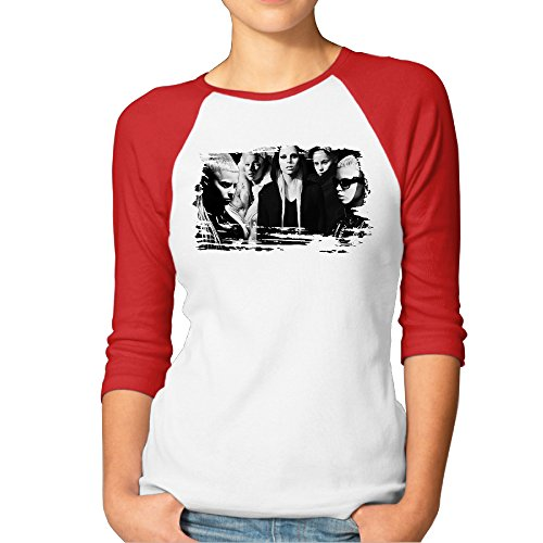 Kim-Lennon-Die-The-Antwoord-Womens-Essential-Raglan-T-shirt-Red