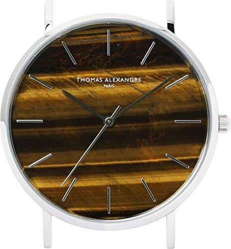 ([Thomas Alexandre] Natural Stone Watch Tiger Eye France Minimal Design Men's/Women's)