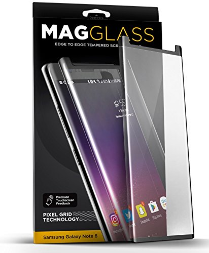 Price comparison product image [Case compatible] Galaxy Note 8 Tempered Glass Screen Protector, MagGLASS XT90 Reinforced Screen Guard w/ Pixel Grid Technology (Scratchproof / Shatterproof) (Includes Precision Applicator)