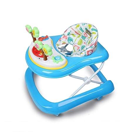 LFY Baby Walker Blue: antivuelco con música, fácil de Plegar ...