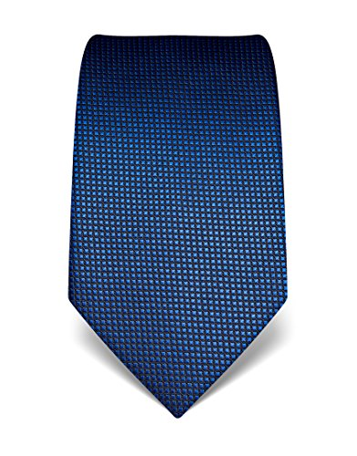 Vincenzo Boretti Men's Silk Tie - checked - many colors available,blue