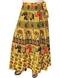 Maple Clothing Long Skirt Cotton Womens Wrap Around Block Print Indian Clothes