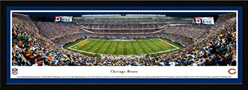 Chicago Bears - 50 Yard - Night - Blakeway Panoramas NFL Posters with Select Frame
