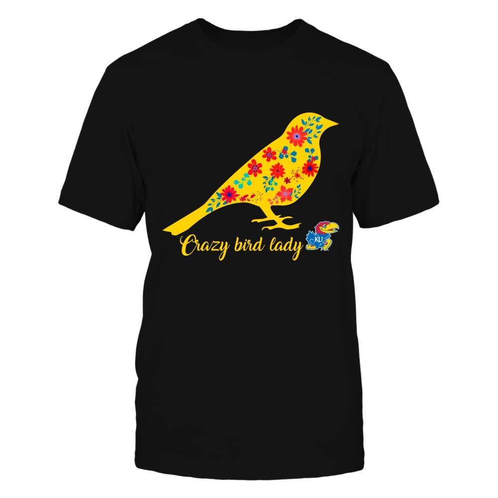 Amazoncom Fanprint Floral Crazy Bird Lady Kansas Jayhawks