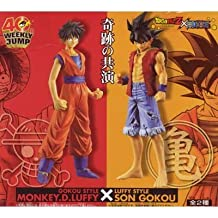 Dragon Ball Z x One Piece DX assembly type figure all set of 2 (japan import)