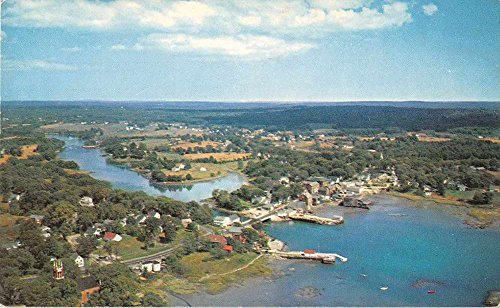 Newcastle Damariscotta Maine Aerial View Vintage Postcard J51542