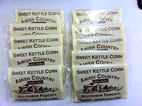Amish Country Microwave Popcorn 10 (3.5 OZ.) Bags Sweet Kettle - Kettle Sweet