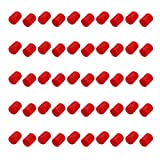 uxcell 100pcs 14mm Dia Red Rubber Thread Round Cabinet Chair Leg Insert Cover Protector