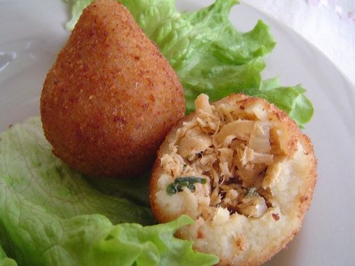 Brazilian Coxinha De Frango Chicken Croquettes 50 Pieces by Sabor Brasil