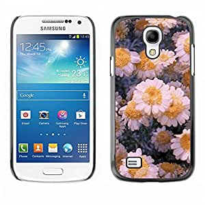 For SAMSUNG Galaxy S4 mini VERSION! / i9190 / i9192 Case , Flowers Daisies Winter Ice Art - Diseño Patrón Teléfono Caso Cubierta Case Bumper Duro Protección Case Cover Funda