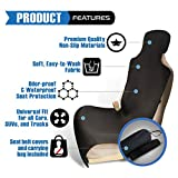 Ryzen Premium Waterproof Car Seat Cover Protector, Neoprene Universal Fit, Protect Your Seat from Pets, Sand, Stains, Sweat, Dirt, Dogs, Odors (Black)