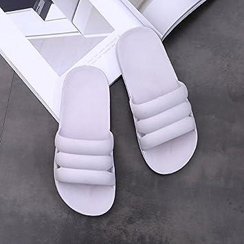 CWJDTXD Zapatillas de verano Inicio luz pareja primavera suave hogar interior cómodo baño ducha sandalias masculinas y zapatillas verano femenino, ...