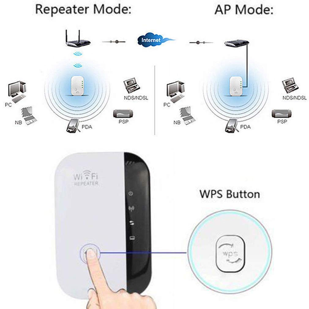 WiFi Range Extender Super Booster 300Mbps Superboost Boost Speed Wireless,2.4GHz Internet Signal Booster Amplifier
