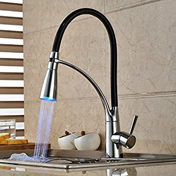 Amazon Com Lightinthebox Led Kitchen Sink Faucet Sprayer