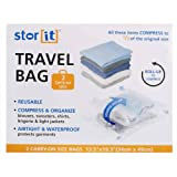 2-pc Carry-on Space Saver Travel Bag