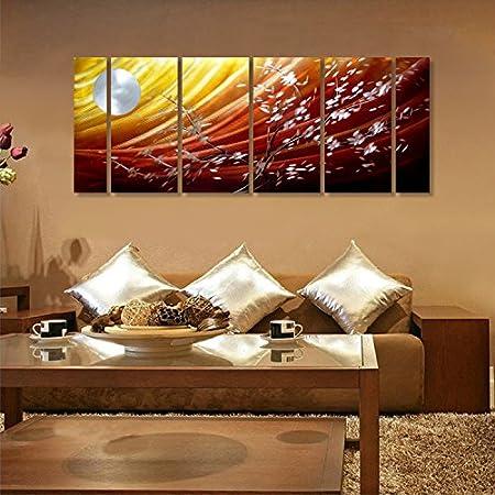 Winpeak Art Handmade Excellent moonlight Metal Wall Ar