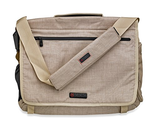 ECBC Zeus Messenger Bag for 15-Inch Laptop,Linen by ECBC