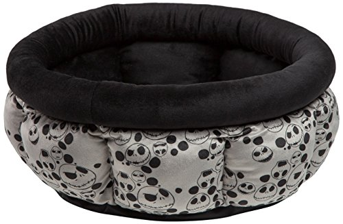 Disney Nightmare Before Christmas Jack Skellington Cuddle Cup Dog Bed/Cat Bed, Machine Washable, Dirt/Water Resistant Bottom, High Walls for Deeper Rest, For Pets up to 12lbs