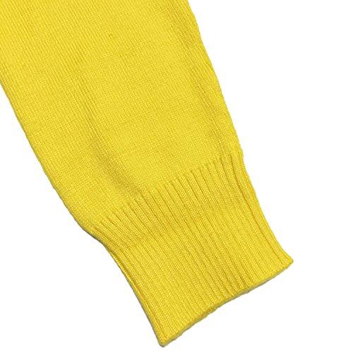 HIDOUYAL - Cárdigan - Básico - con botones - Manga Larga - para mujer amarillo
